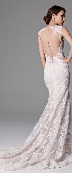 gefunden bei HAPPY BRAUTMODEN         Brautkleid Hochzeitskleid edel elegant romantisch Watters Willow by Wtoo fließender Rock Spitze tiefer Rücken