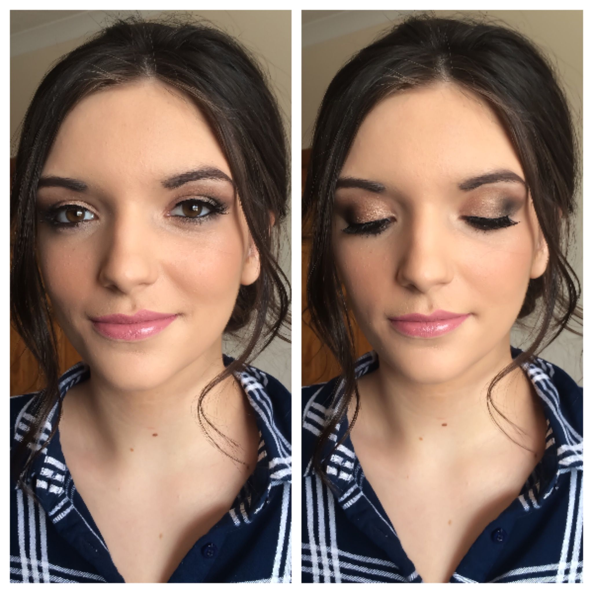 Wedding Guest Makeup Soft Brown Smokey Eyes By Urban Decay 2 Palette