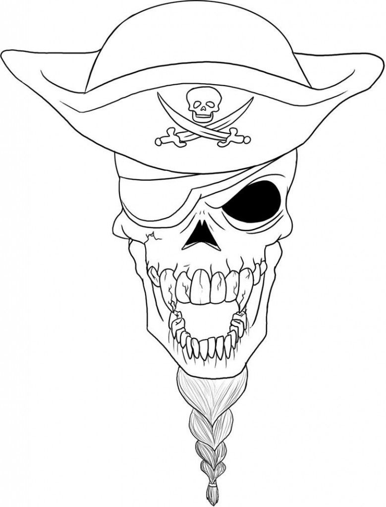 Pirate Skull Coloring Sheets Printable Coloring Pinterest