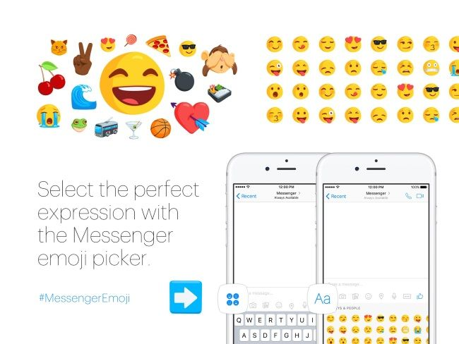 A Whole New Emoji World For Facebook Messenger Messenger Emoji Facebook Messenger Emoji