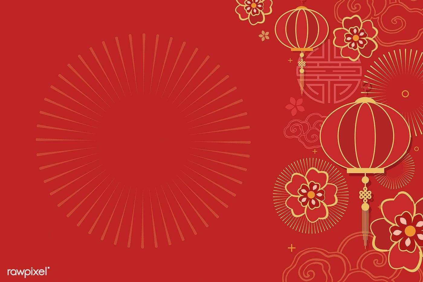 Download Premium Vector Of Chinese New Year 2019 Greeting Background 555236 Chinese New Year Background Chinese Background Free Vector Art