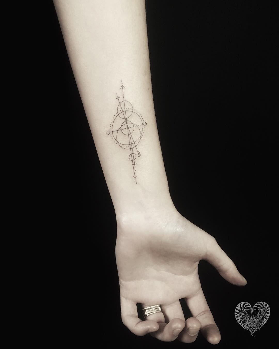 Siri On Instagram Fine Line Geo Compass Circular Tattoo Tattoo Work Faith Tattoo On Wrist