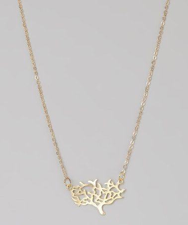 Take a look at this Matte Gold Tree of Life Necklace by Mangos