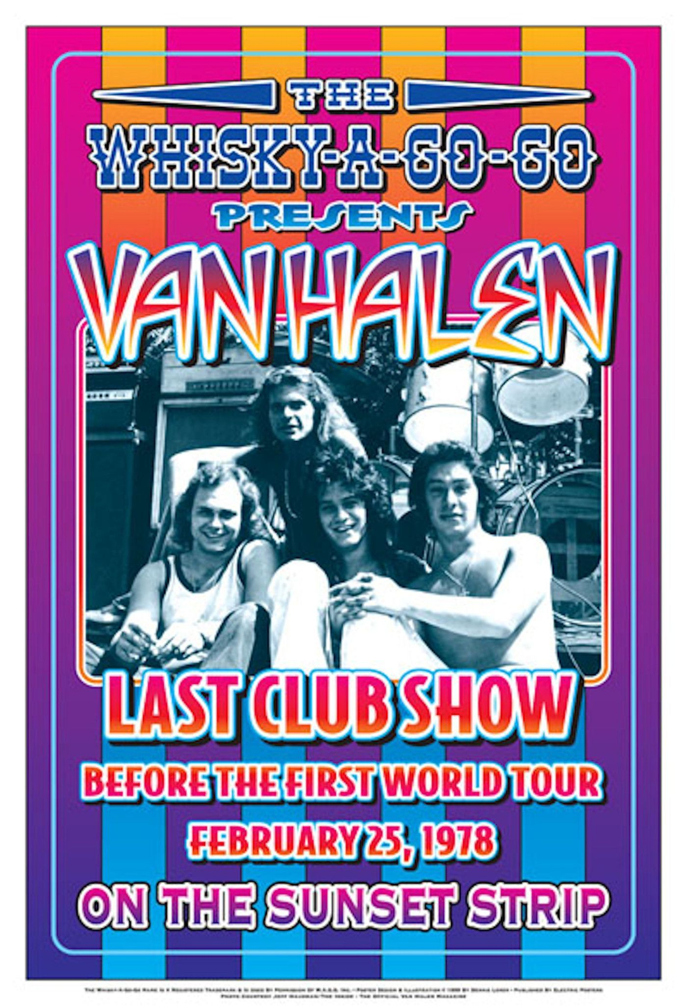 d459d50efee Van Halen Last Club Show Before the First World Tour Begins February ...