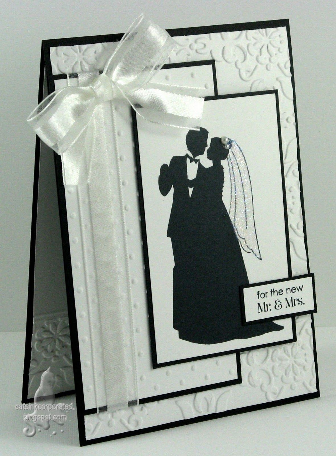 White And Black Wedding Dance Couple Card