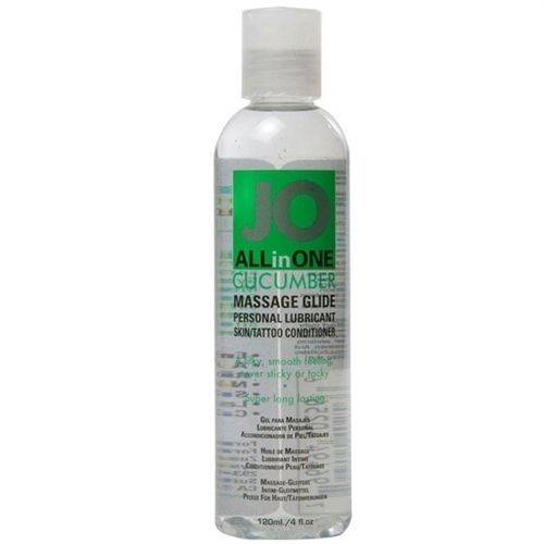 System Jo All In One Massage Glide Silicone Lubricant Cucumber 4oz