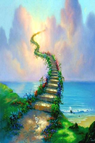 Quality Wallpapers For Mobiles And Tablets Mobiles Wall Heaven Painting Stairway To Heaven Stairways