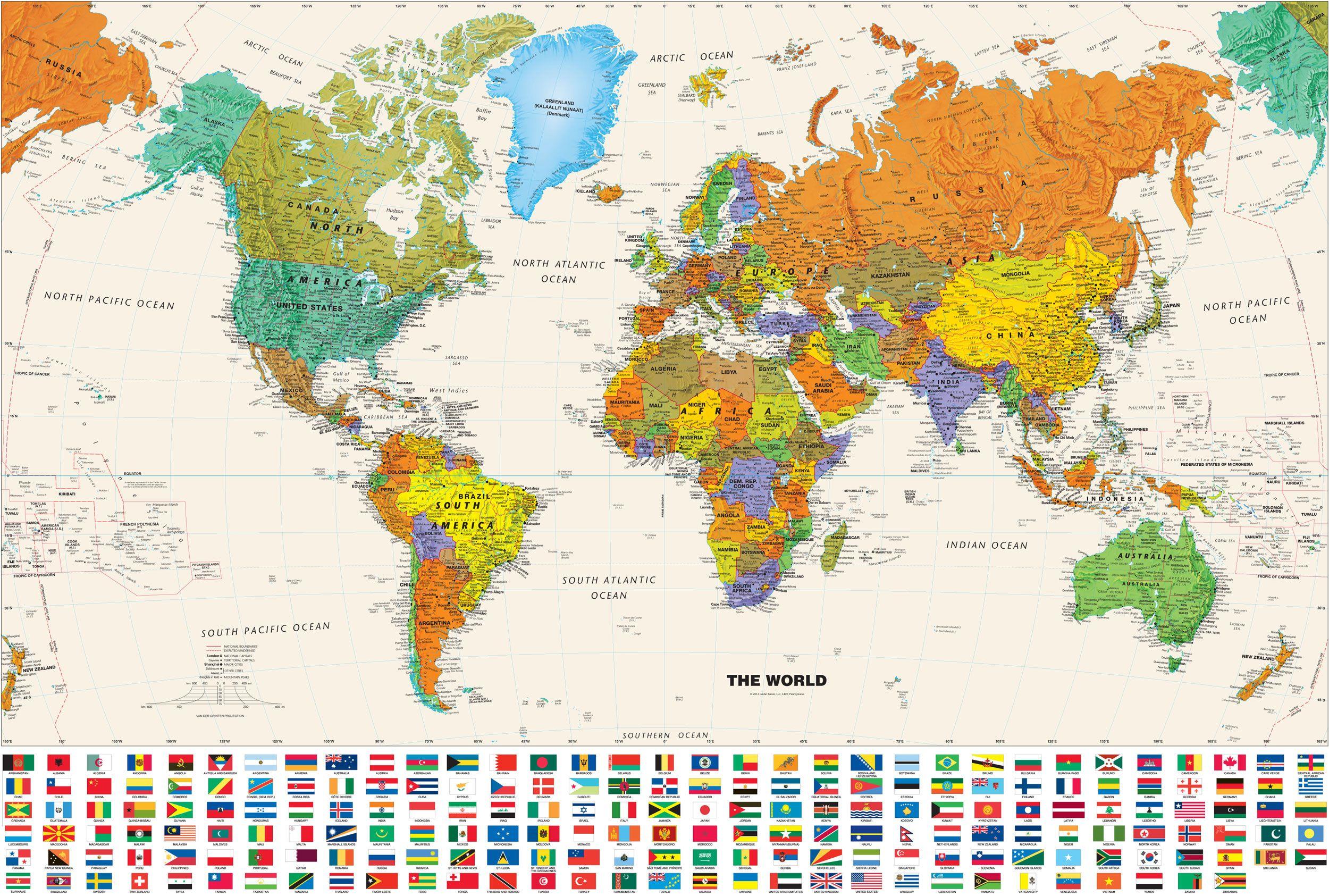 Mapa De Los Paises.Mapa De Paises Del Mundo 2015 En 2019 Mapa Mural Del