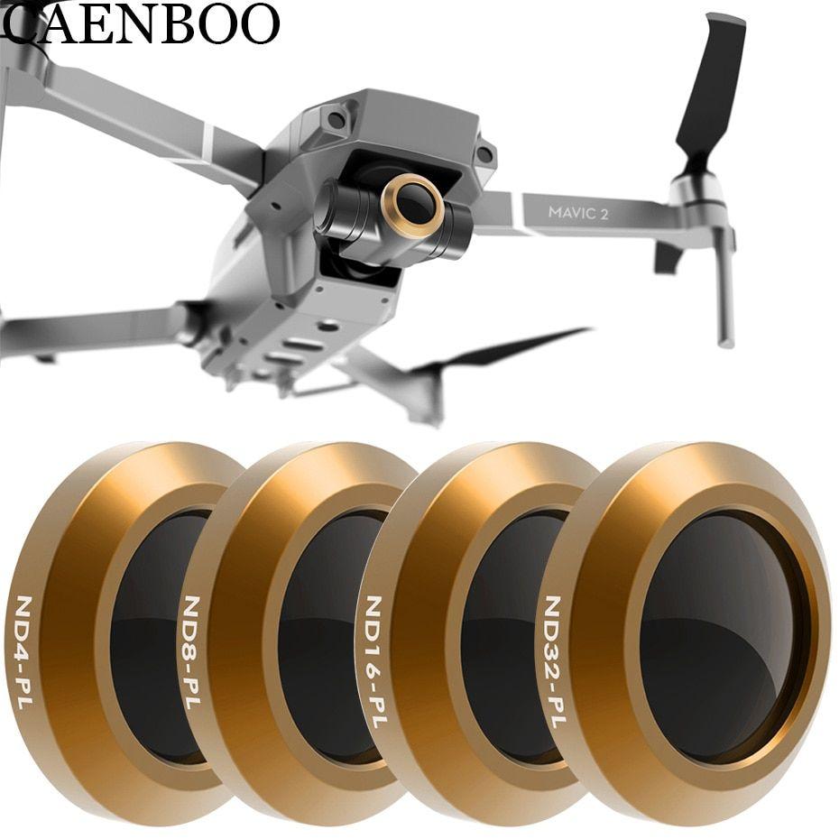 Caenboo Drone Filter For Dji Mavic 2 Zoom Neutral Density Nd4pl 8 16 Ndpl32 Polar Optical Glass Multi Layer Coating Film Gimbal Revi Multi Layering Mavic Drone