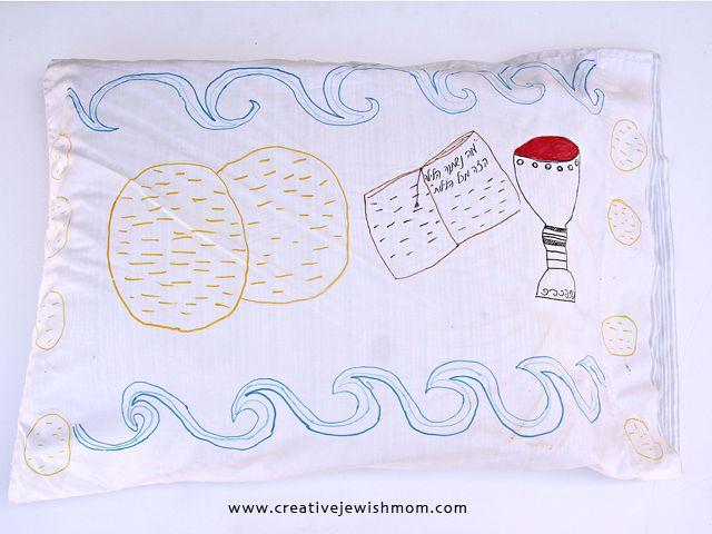 Passover pillow case kid's craft