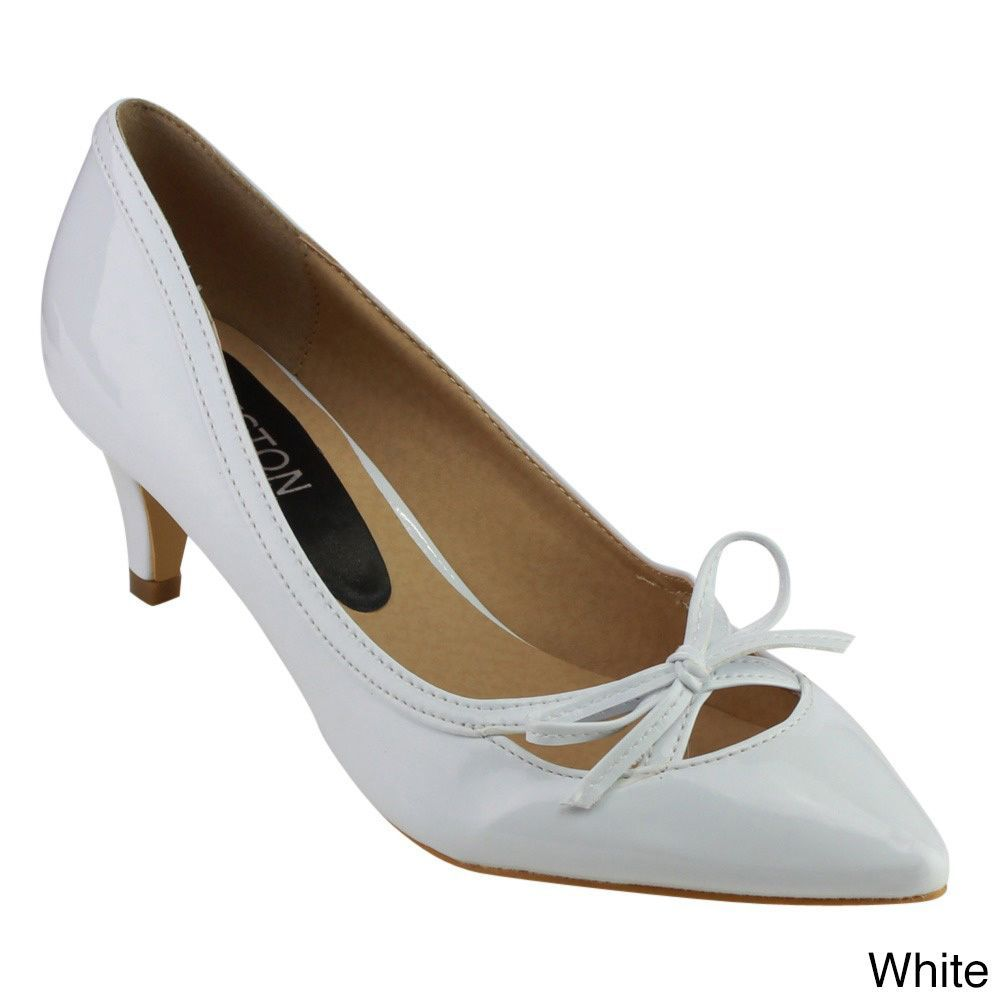 041107a4af4 Beston Women s Faux Leather Pointed-toe Heels (White-6)