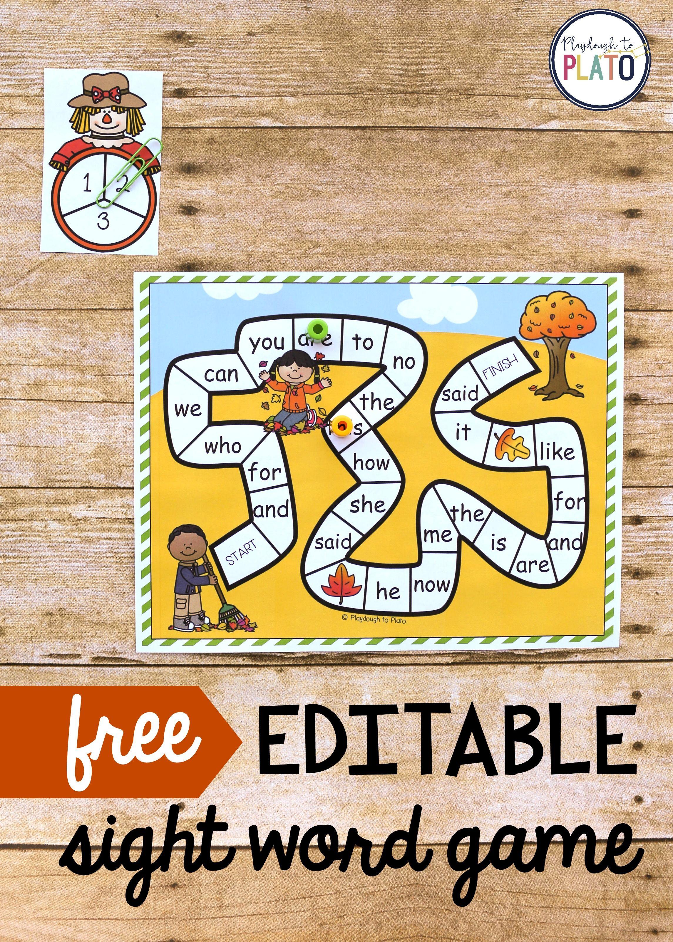 Free-editable-sight-word-game.jpg 2,290×3,206 pixels | school ...