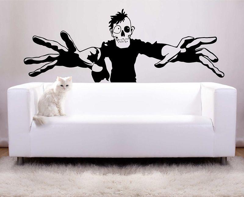 huge zombie halloween decoration vinyl wall decal photo backdrop by vinyltastic on etsy https