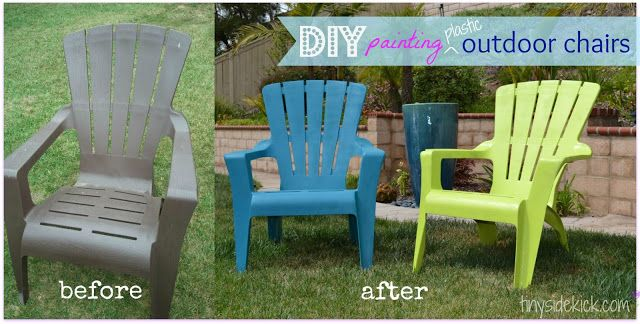 How To Paint Plastic Outdoor Chairs, Outdoor Plastic Furniture
