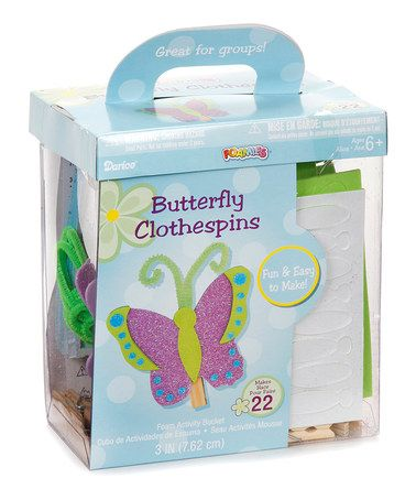 Loving this Foam Glitter Clothespin Butterfly Kit on #zulily, $8 !!  #zulilyfinds