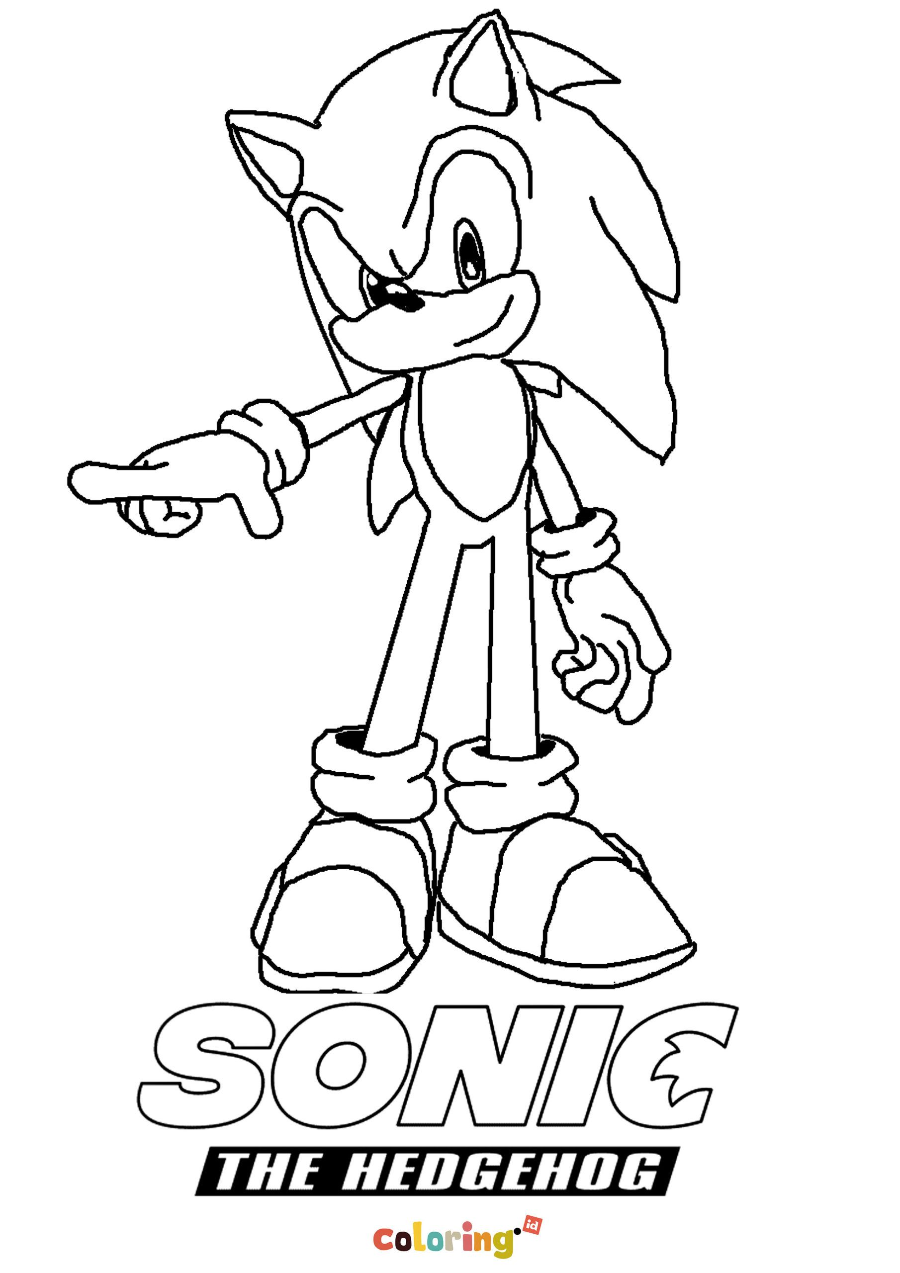 Sonic The Hedgehog Coloring page Thousands of coloring ...