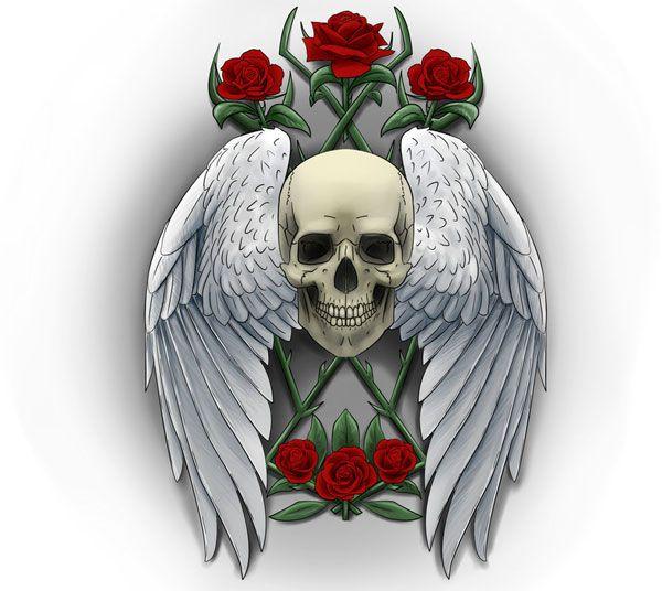 http://slodive.com/wp-content/uploads/2011/10/skull-tattoos/skull-wing-roses.jpg