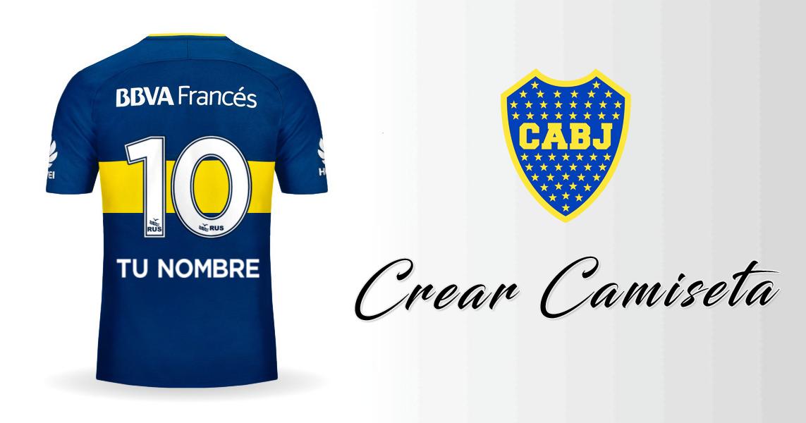 Boca 20172018 Tu Crear De Camiseta Juniors NombreFut Con Nv8nm0Ow
