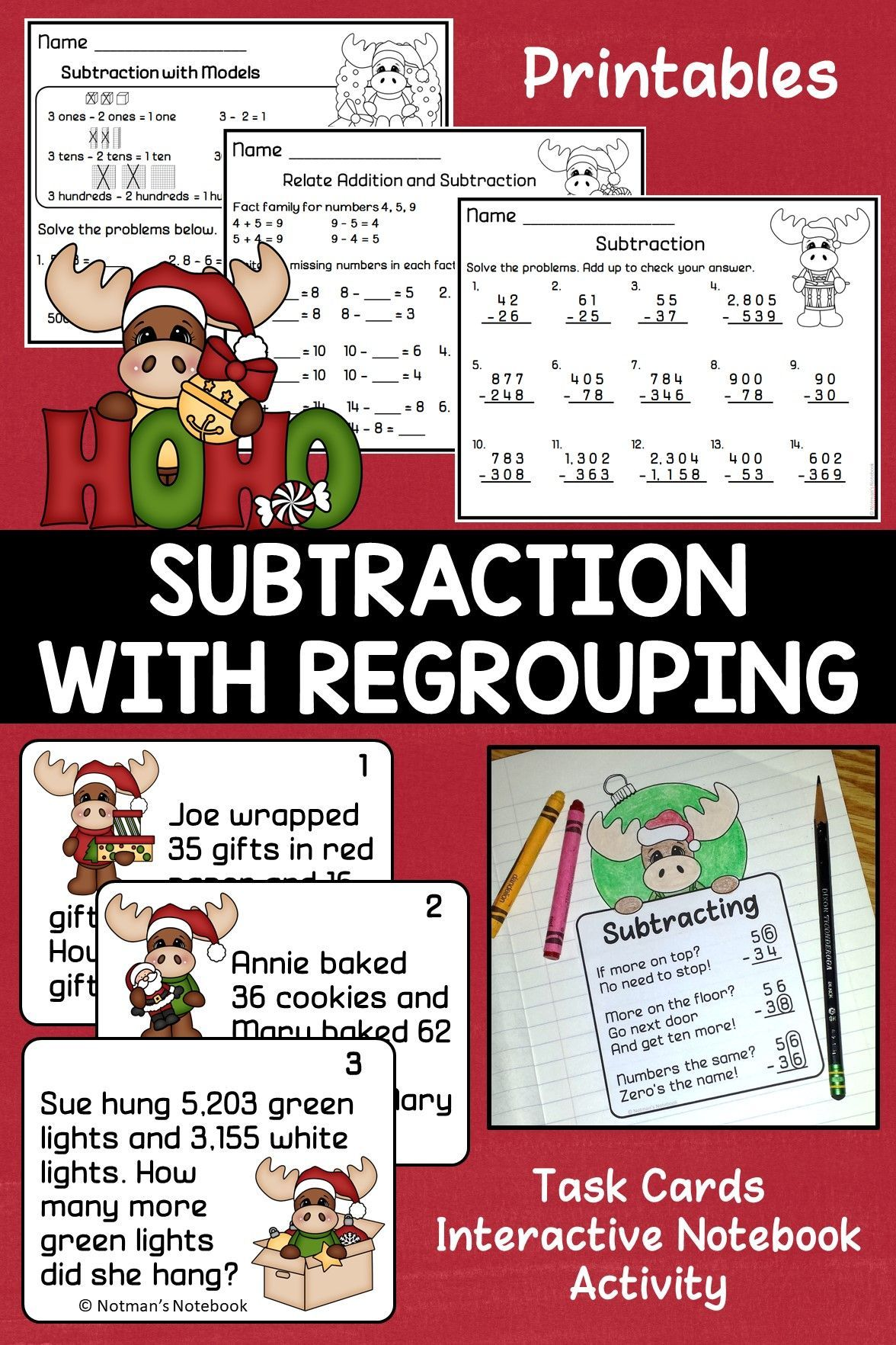 Subtracting Whole Numbers With Regrouping