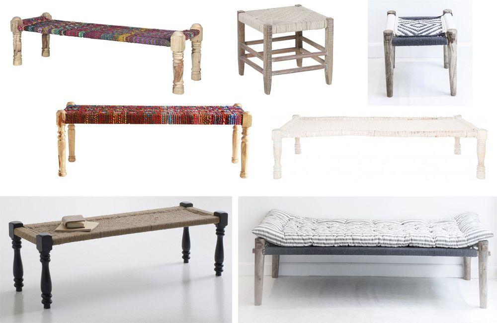 o trouver un charpoy choses que j 39 adore mobilier de. Black Bedroom Furniture Sets. Home Design Ideas