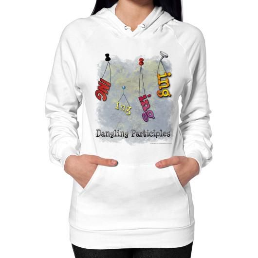 Hoodie (on woman) White WordPlay T-Shirts