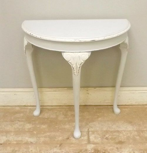Delightful Borrowed Light Half Moon Table