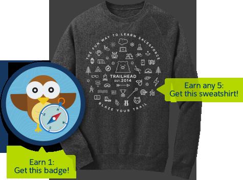 Salesforce Trailhead Sweatshirt Landing Page Email Templates