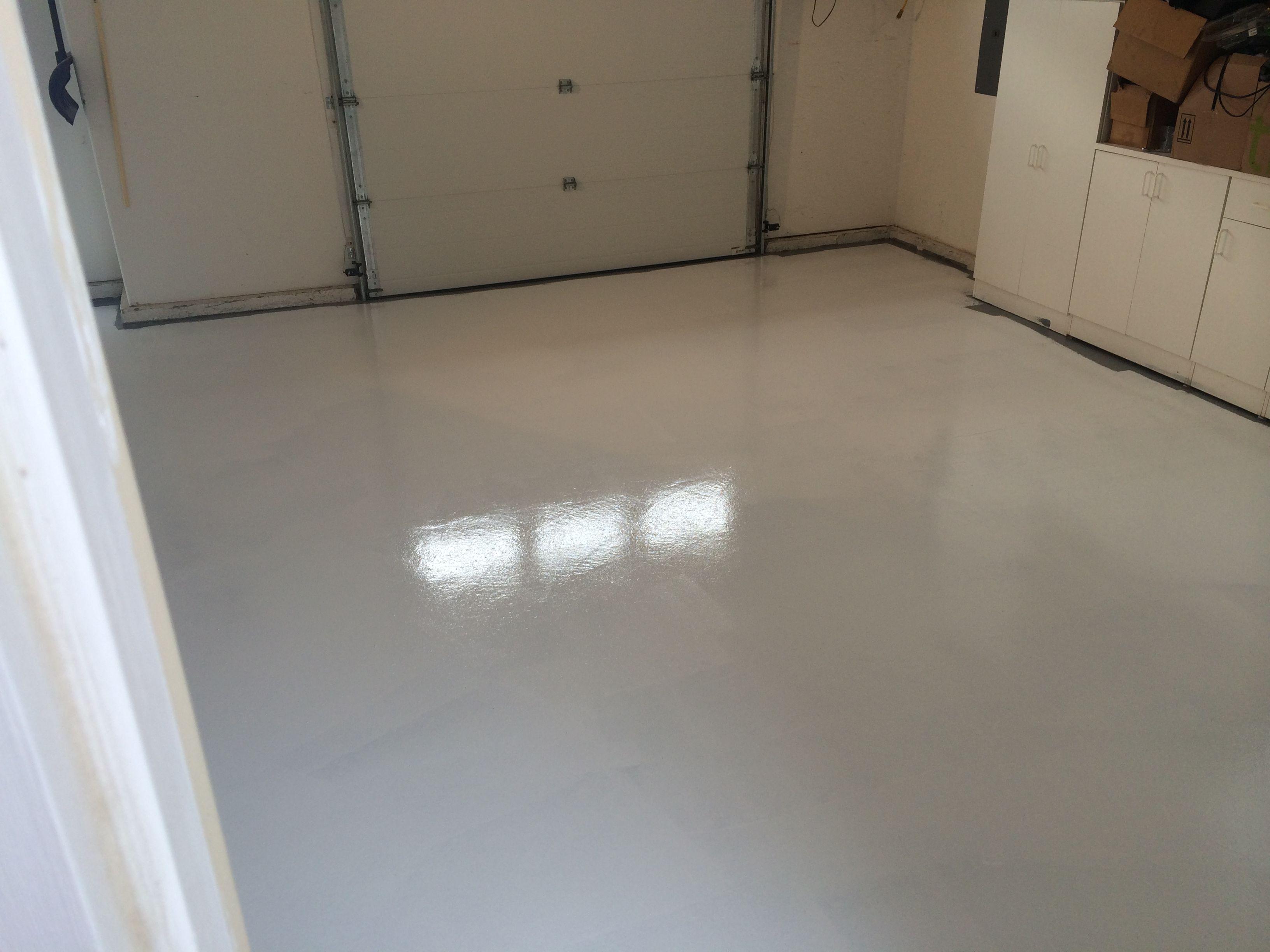 White Rust Bullet Garage Flooring GarageFlooring DIY