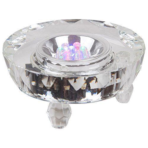 Ifolaina Crystal Glass Led Light Base Multicolor Multifacet For Laser Engraving Crystal Display White Visit The Imag Light Display Led Lights Plate Display