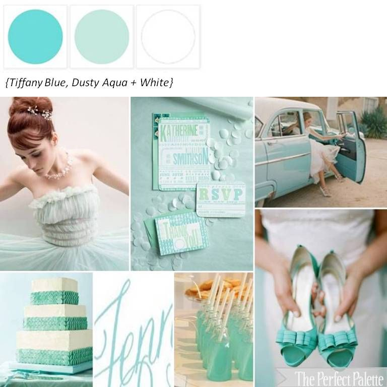 Tiffany Blue, Aqua + White ☛ ow.ly/8jgZ8
