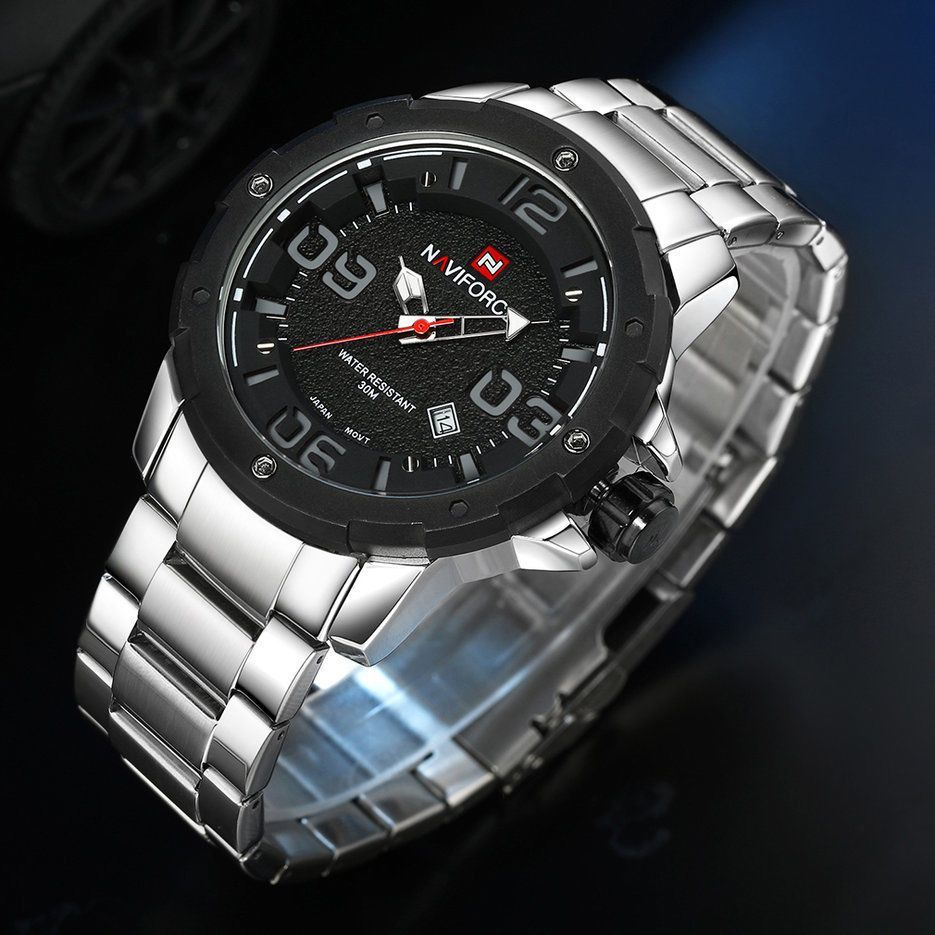 Men Stainless Steel Strap Outdoor Water Resistant Wrist Watch Perfect Gifts#X