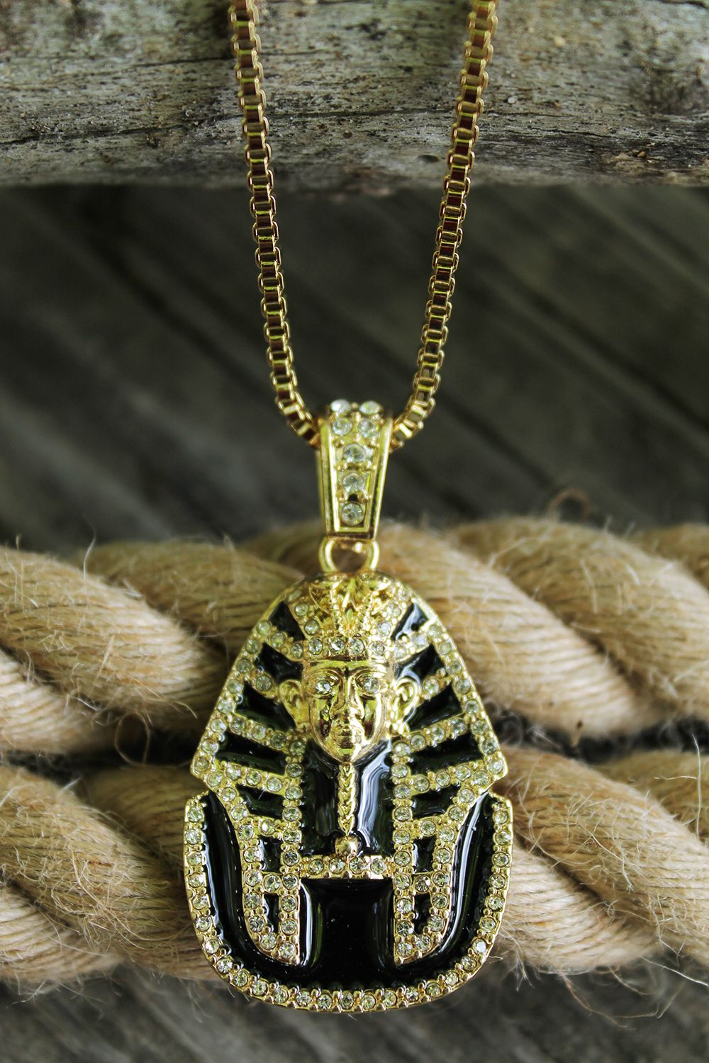 Iced out king tut pendant 24 boxropecuban chain hip hop gorgeous sparkle pendant necklace iced out king tut pendant 24 boxrope aloadofball Gallery