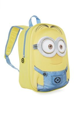 "DESPICABLE ME 2 MINIONS 16/"" BOYS /& GIRLS SCHOOL BACKPACK NWT!"