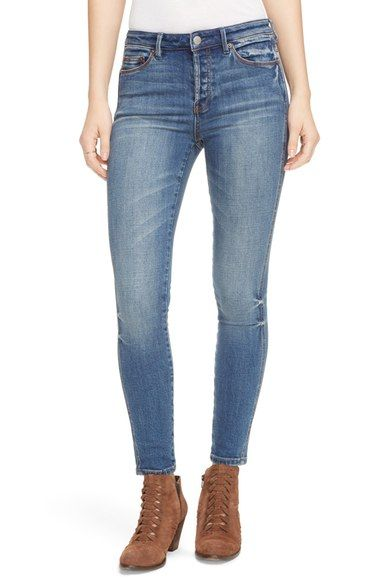 FREE PEOPLE 'Peyton' High Rise Skinny Jeans. #freepeople #cloth #