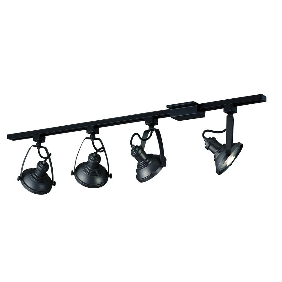 Shop Portfolio 4-Light Black Step Linear Track Lighting