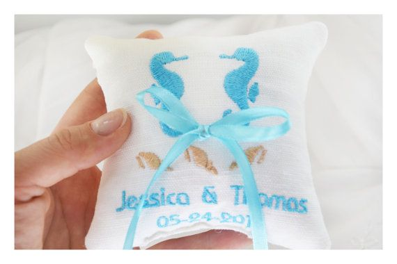 embroidered pillow Ring bearer pillow R37 ring  pillow Personalized  embroidery wedding pillow wedding ring pillow