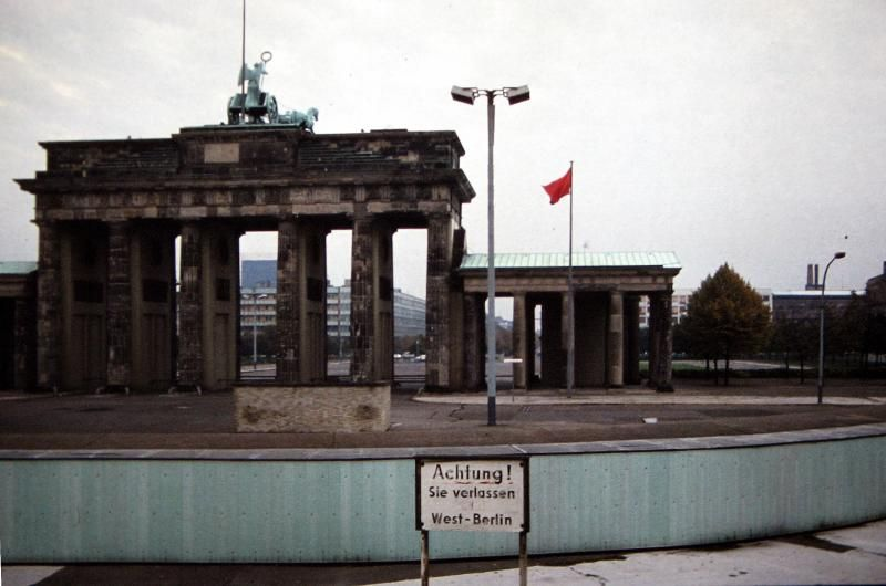 Berlin 1980 Brandenburger Tor Berlin Wall West Berlin Brandenburg Gate