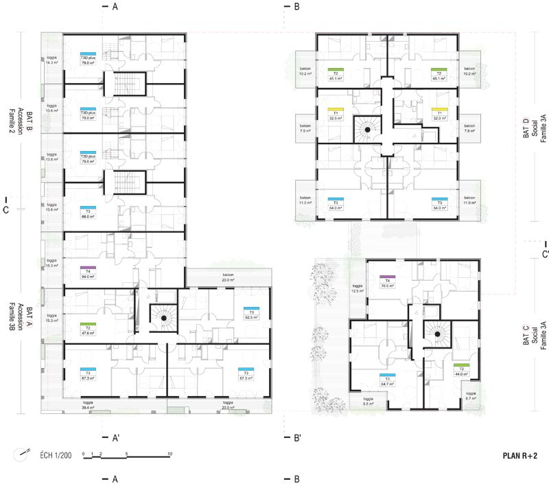 plan appartement r+1