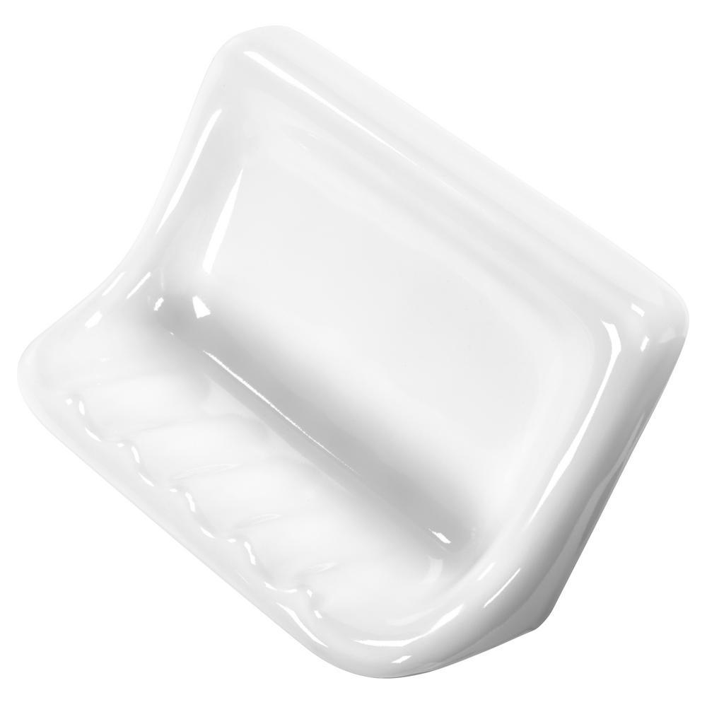Daltile Finesse 3 In X 6 In X 4 In Glazed Ceramic Soap Dish In
