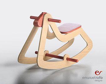 design schaukelpferd moderne holzspielzeug f r kinder jungen m dchen ko spielzeug c03. Black Bedroom Furniture Sets. Home Design Ideas