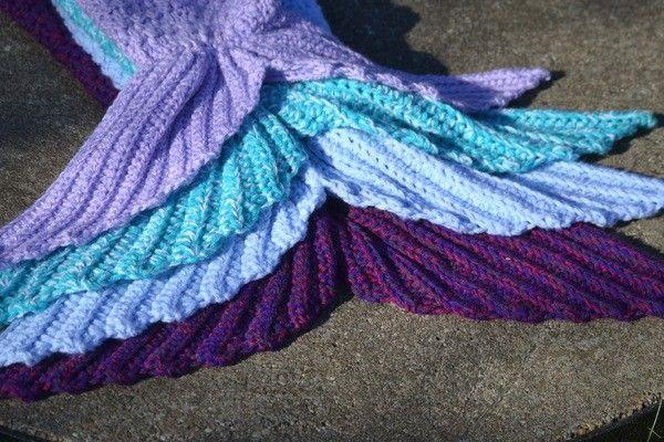 Meerjungfrauen Decke, in 12 Größen häkeln ++ Aquaria++ ...