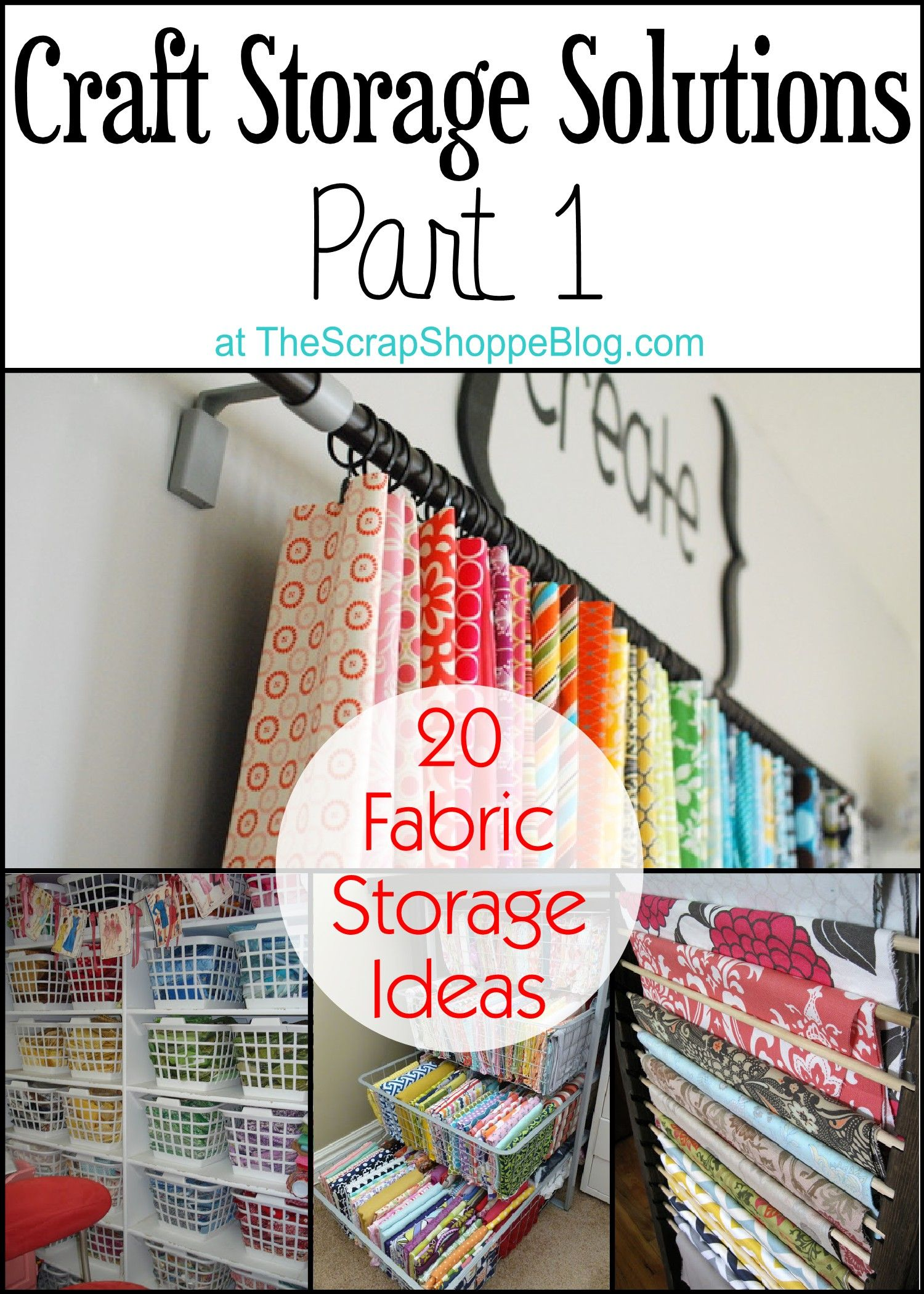 20 Fabric Storage Ideas   Crafty Solutions For Your Craft Room!