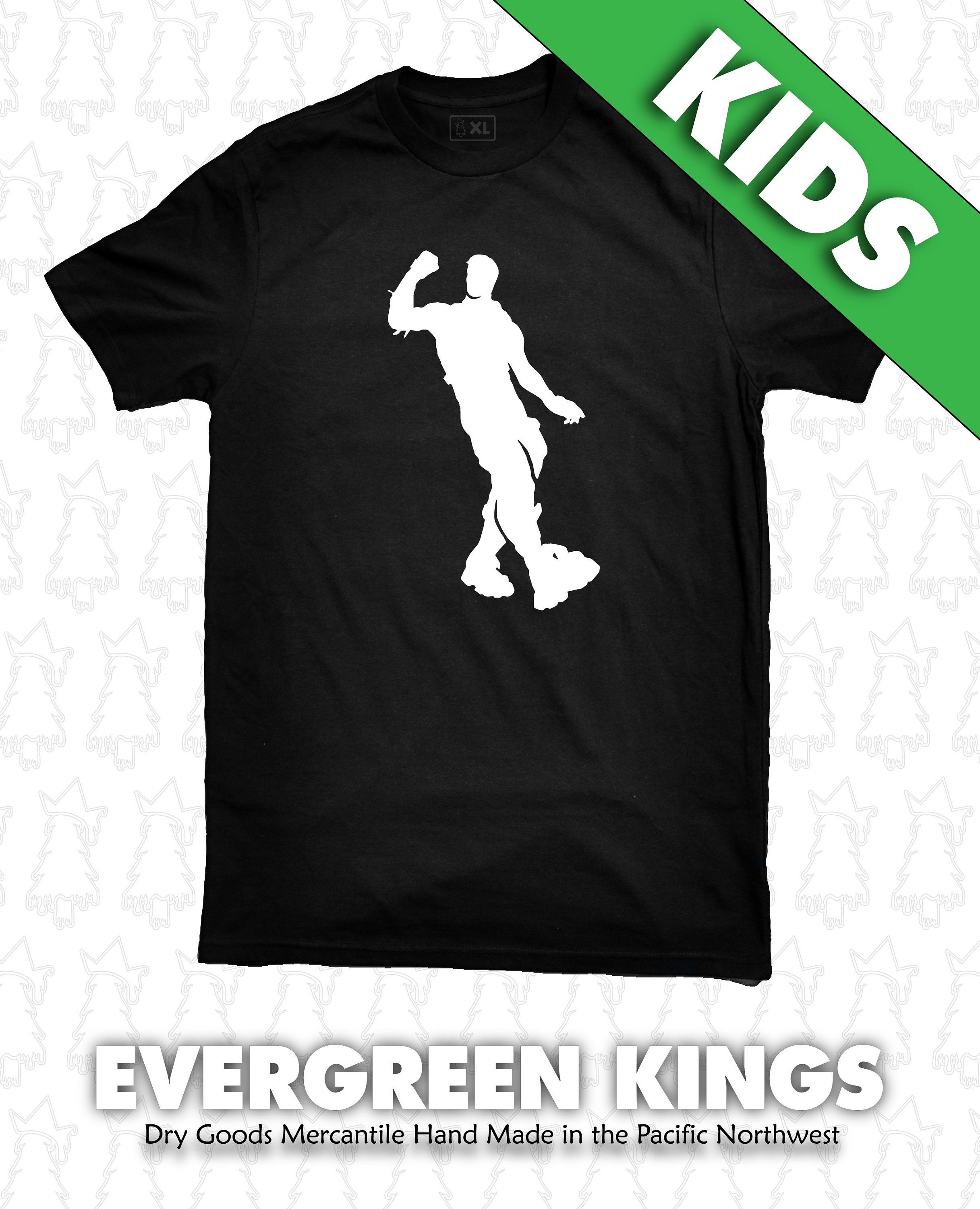 Fortnite HYPE Dance Emote Fort Night Kids Size T Shirt by