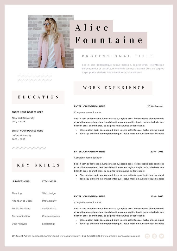 creative resume template word  pages instant download