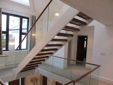 Best Houzz Modern Staircases Glazed Staircases Modern Staircase Modern Staircase Small Basement 400 x 300