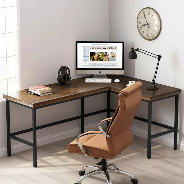 Marcum Solid Wood L Shape Desk L Shaped Desk Simple Desk Home