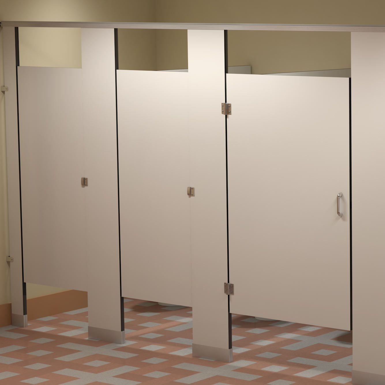 Phenolic Bathroom Partitions Exterior Plastic & Phenolic Partitions Cubicles  Toilet Partitions .