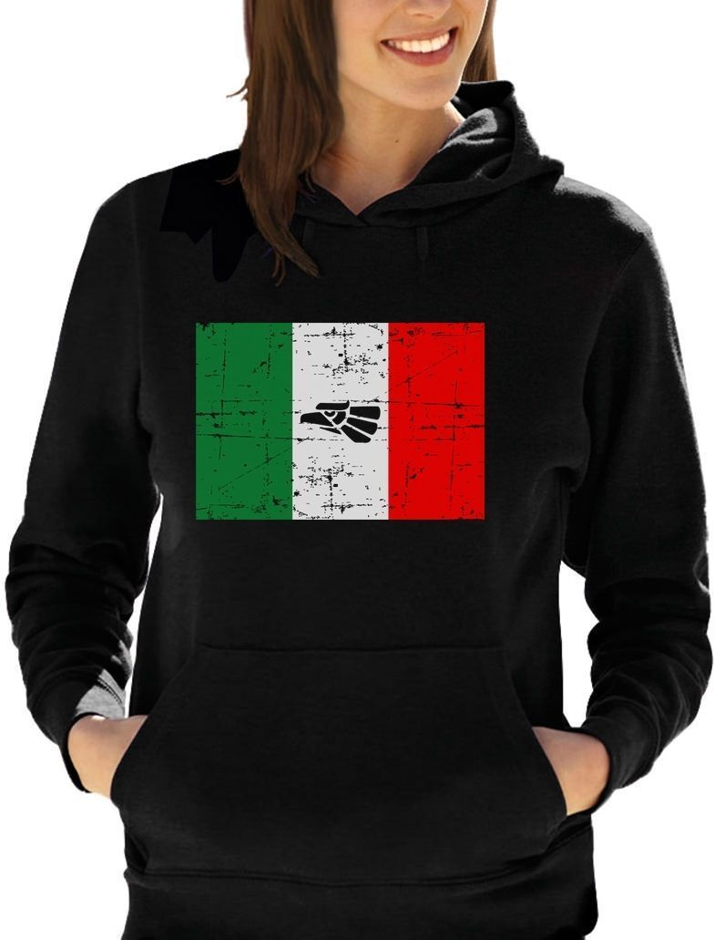 mexico flag vintage retro mexican flag women hoodie mexico pride
