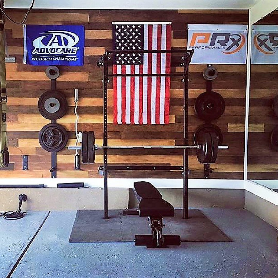 What flags are you hanging in your home gym garage