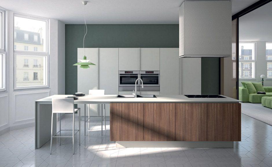 Ernestomeda Emetrica - combinatie wit + hout | Kitchen | Pinterest ...